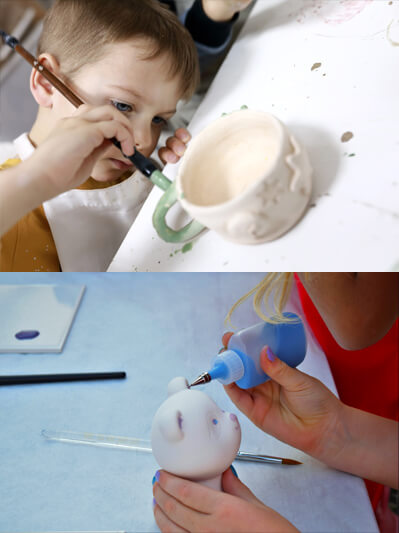 Painting ceramic kits for birthday parties