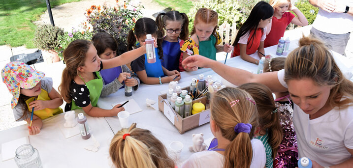 Kids ceramic painting parties at home