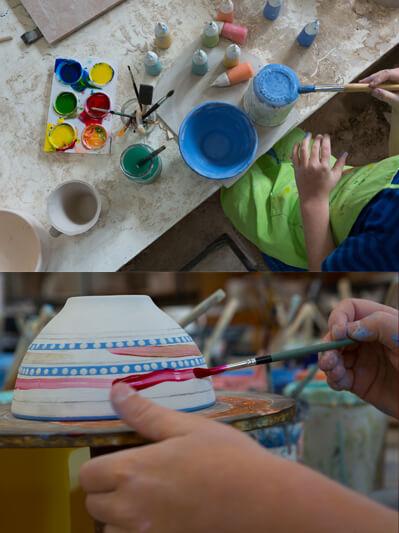 Paintin ceramic home kits for kids
